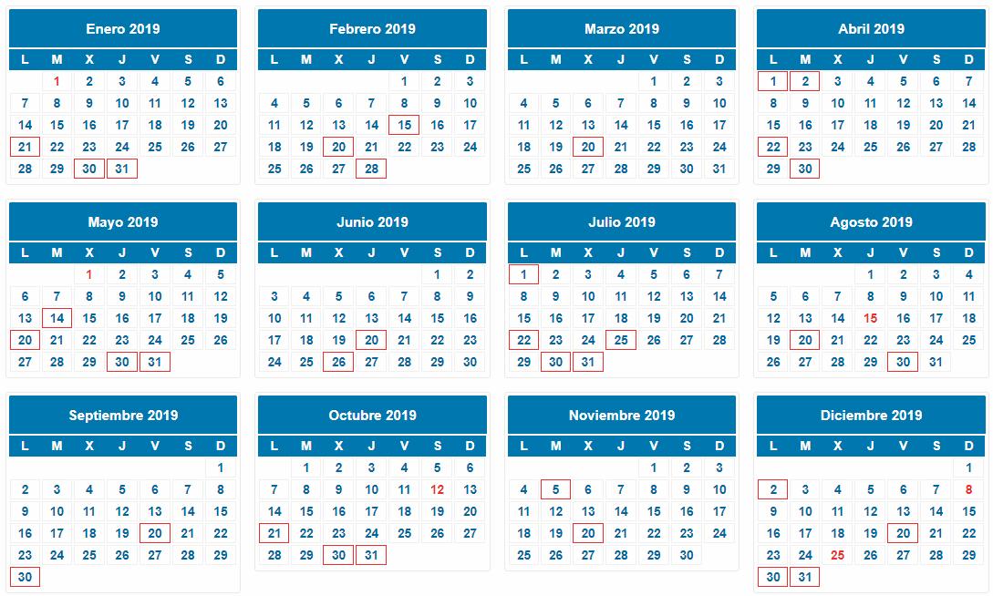 Aeat Calendario Del Contribuyente 2019.Calendario General Del Contribuyente 2019 Castan Asesores